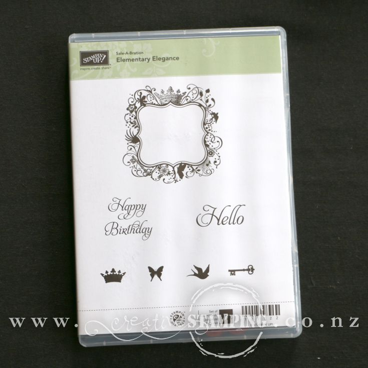 Elementary Elegance clear-mount stamp set