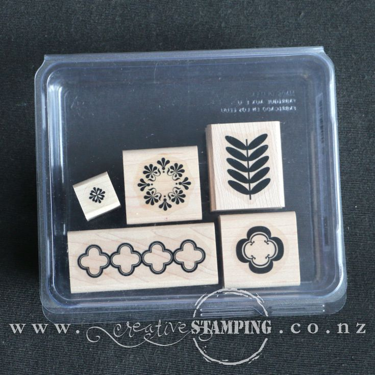 Madison Avenue wood-mount stamp set