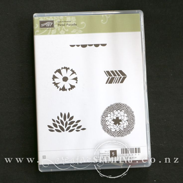 Petal Parade clear-mount stamp set