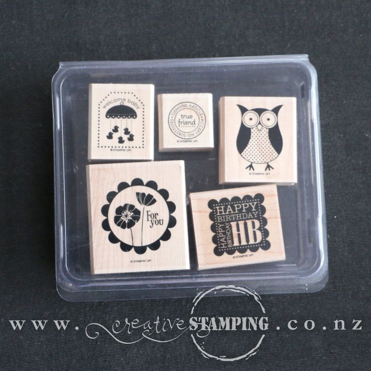 Punch Bunch wood-mount stamp set