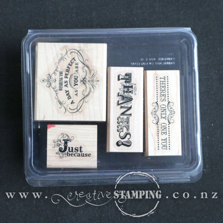 Vintage Verses wood-mount stamp set