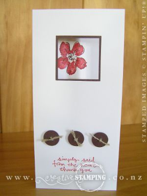 Window Frame Thank You Card