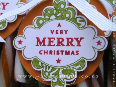 Candy Canes Tag Close-up