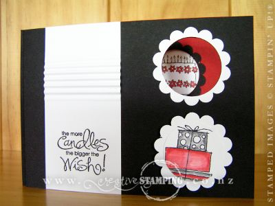 Black 'n' White Secret Message Card