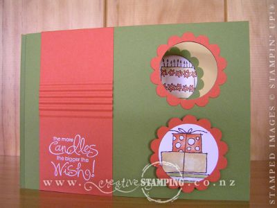 Olive 'n' Tangerine Secret Message Card