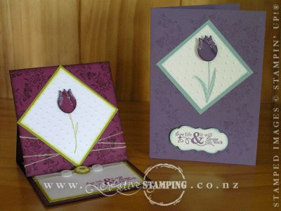 Tulip Easel Card and Bev's Swap