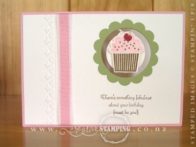 Create a Cupcake Suspension Card