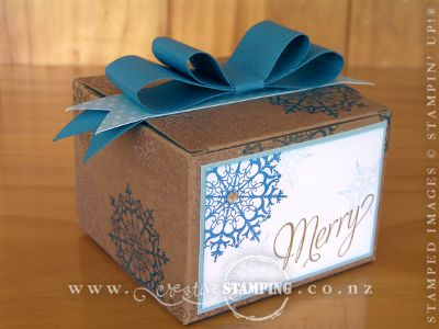 Snowflake Soiree Kraft Gift Box and Cards
