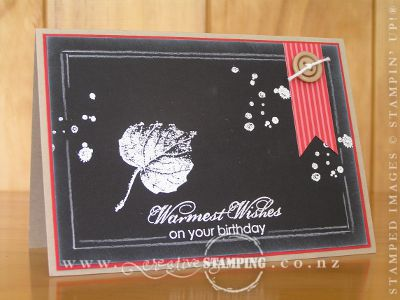 Masculine Chalkboard Birthday Card