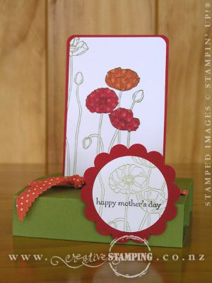 Pleasant Poppies Free-Standing Popup Card
