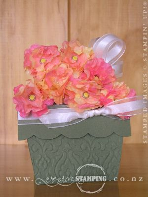 Pansy Flower Pot Card