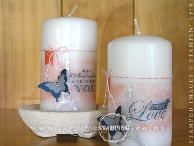 Follow My Heart Stamped Candle
