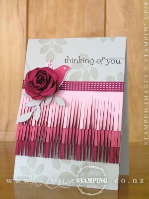 Betsy's Blossoms Ombre Fringe Card