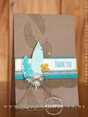 Four Feathers Thank You Card