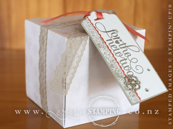 Wedding Gift Ideas Nz : The gift box was made using the Gift Box Punch Board . I wrapped it ...