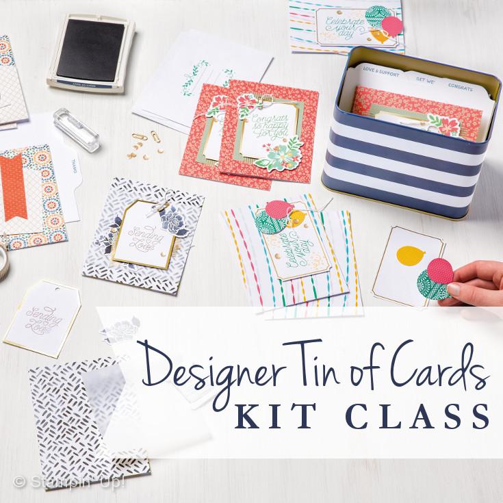 Designer Tin of Cards Kit Class