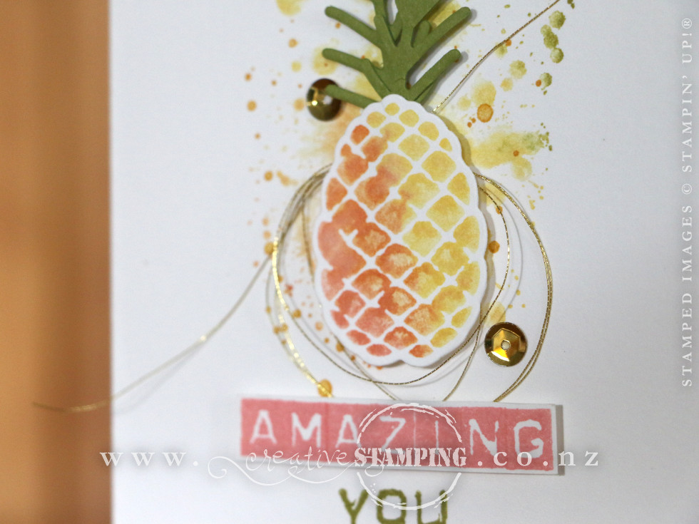 Amazing You Pineapple Card | Christmas Pines Stamp Set