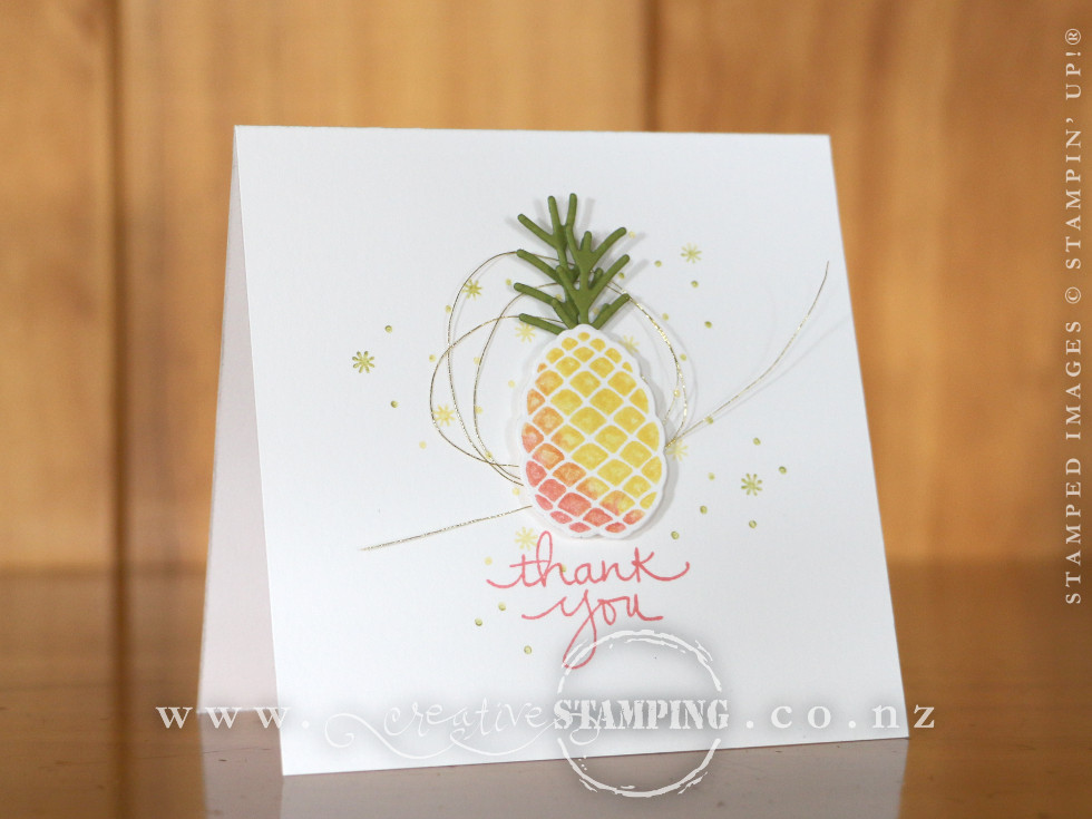 Pineapple Thank You Card | Christmas Pines Stamp Set