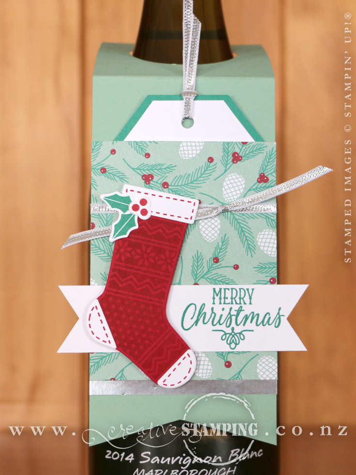 Hang Your Stocking Christmas Wine Bottle Tag