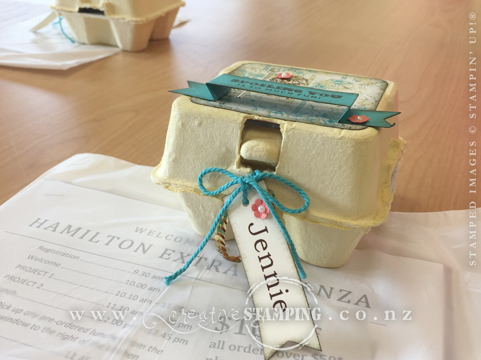 Guest Gifts - Decorated Mini Egg Cartons with Lindt Chocolates inside!
