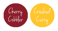 Gryffindor House Stampin' Up! Colours | Cherry Cobbler & Crushed Curry
