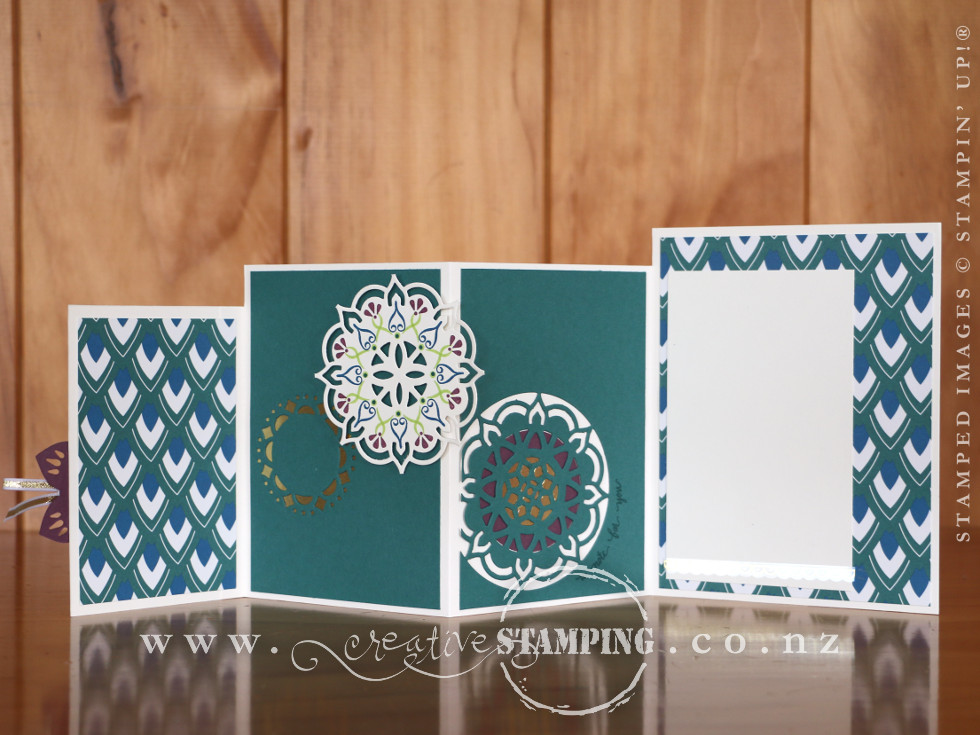 Eastern Beauty Concertina Card