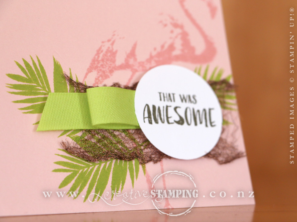 Fabulous Flamingo Encouragment Note Card