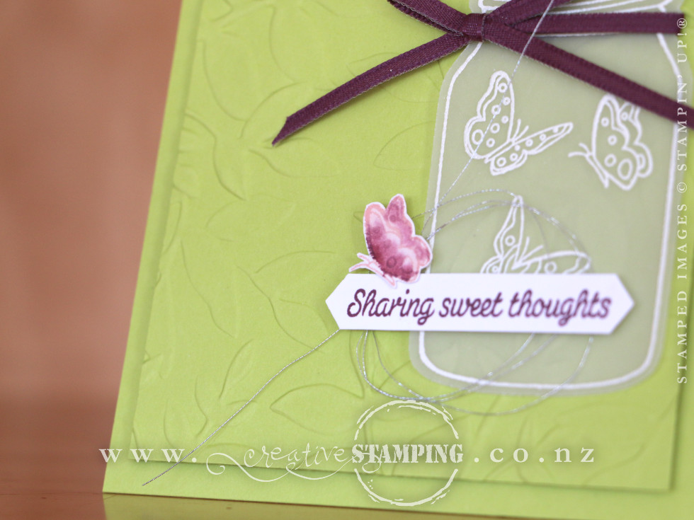 Sharing Sweet Thoughts Embossed Card