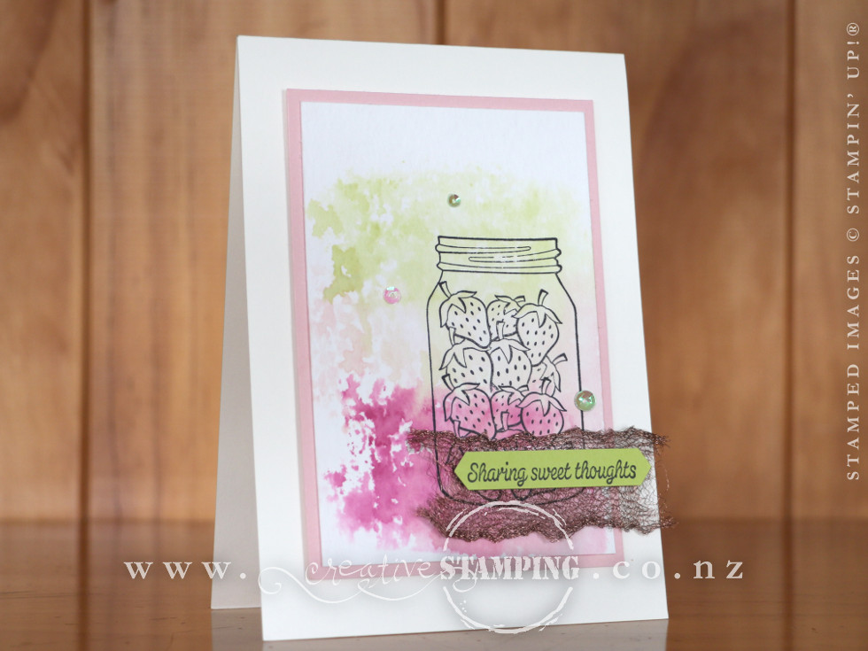 Sharing Sweet Thoughts Strawberry Card
