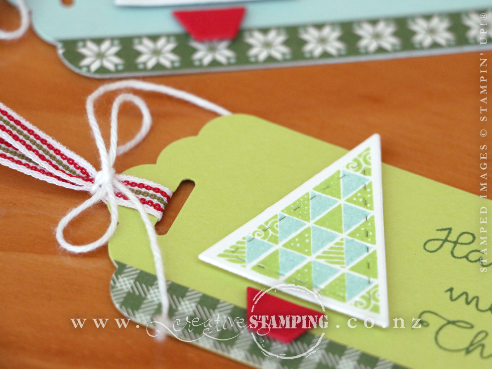 Quilted Christmas Tags