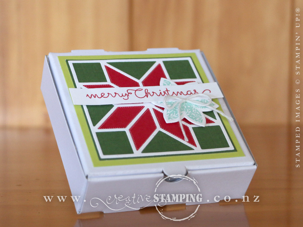 Quilted Christmas Mini Pizza Box
