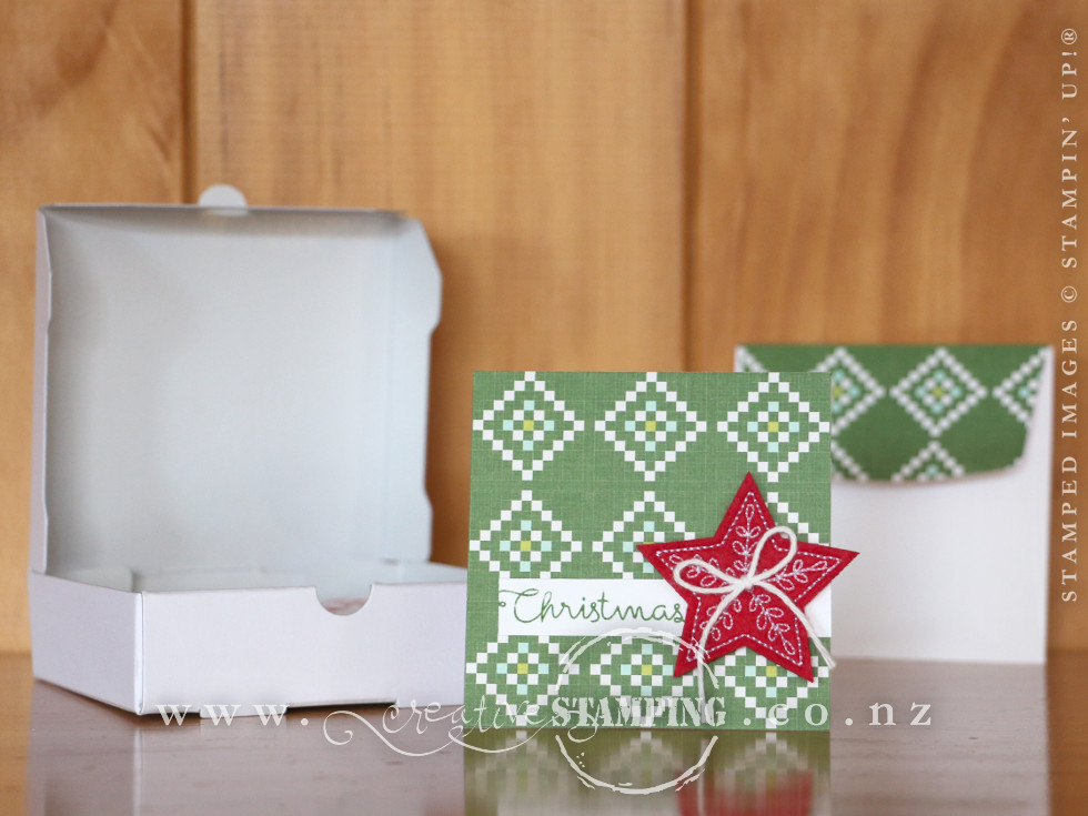 "Quilted Christmas 3"" x 3"" Note Card"