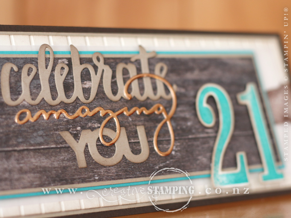 Celebrate You Milestone Birthday Card - 21st birthday!