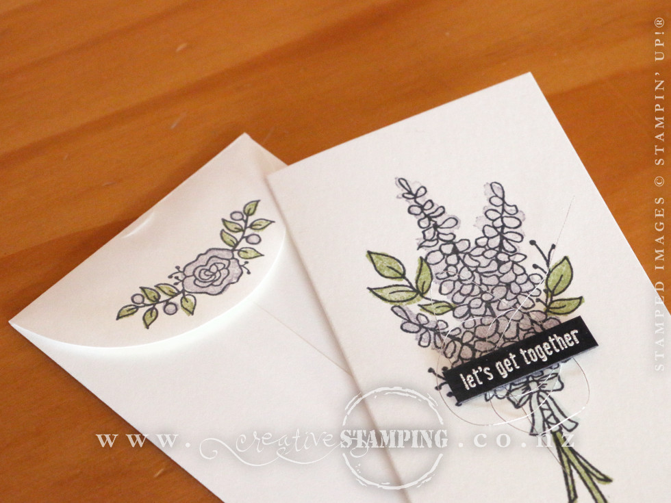 Lots of Lavender Gift Boxed Narrow Note Cards & Envelopes