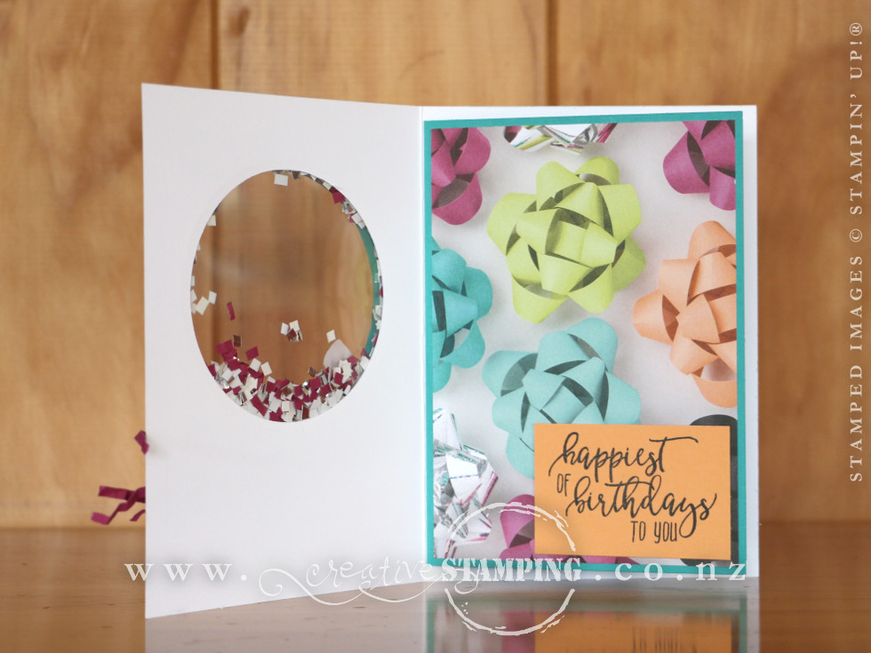 Picture Perfect Birthday Shaker Card