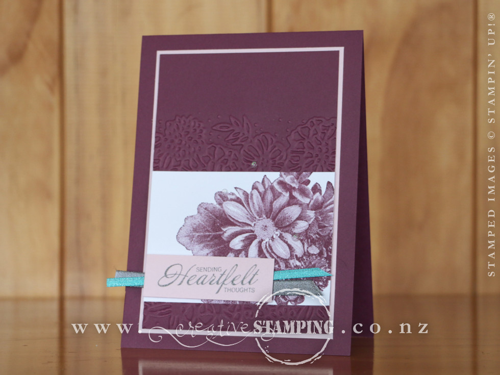 Heartfelt Blooms Sympathy Card