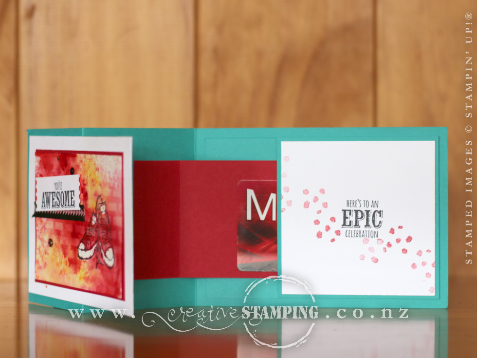 Epic Celebrations Z-Fold Popup Voucher Card