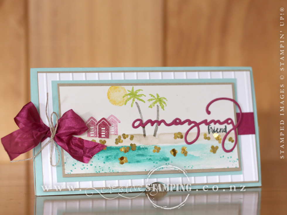 Waterfront Beach Card