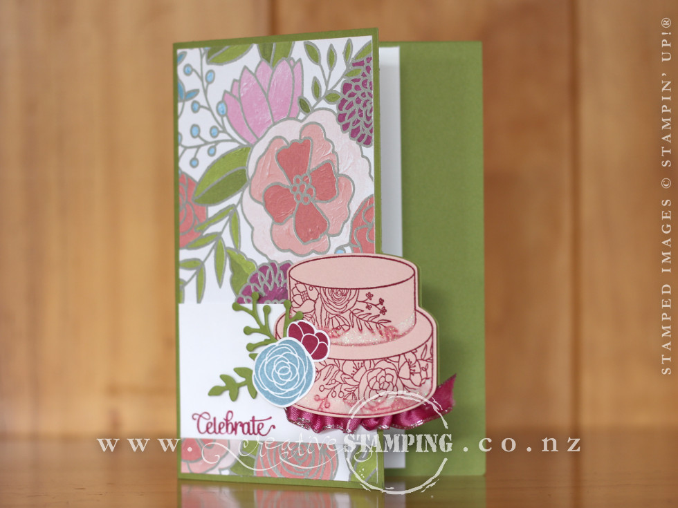 Cake Soirée Shaped Birthday Card