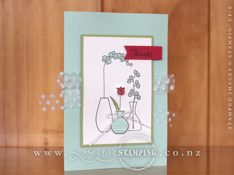 Varied Vases Thank You Card