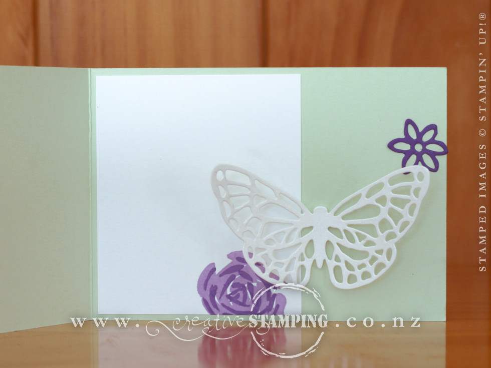 Abstract Impressions Pop-Out Butterfly Card