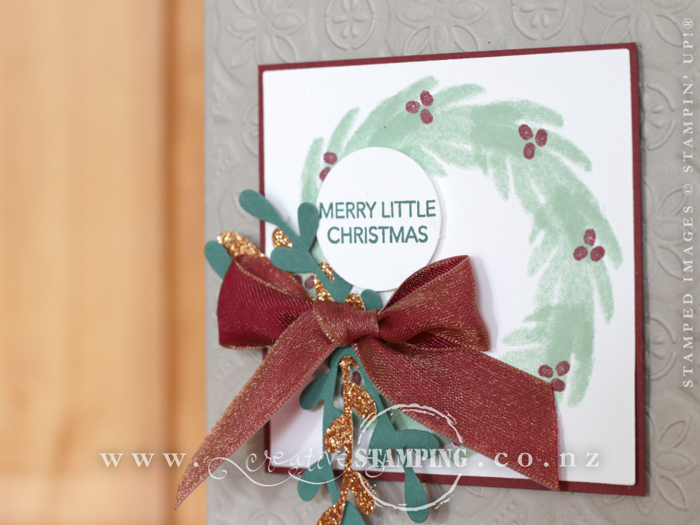 Peaceful Noel Wreath Christmas Card