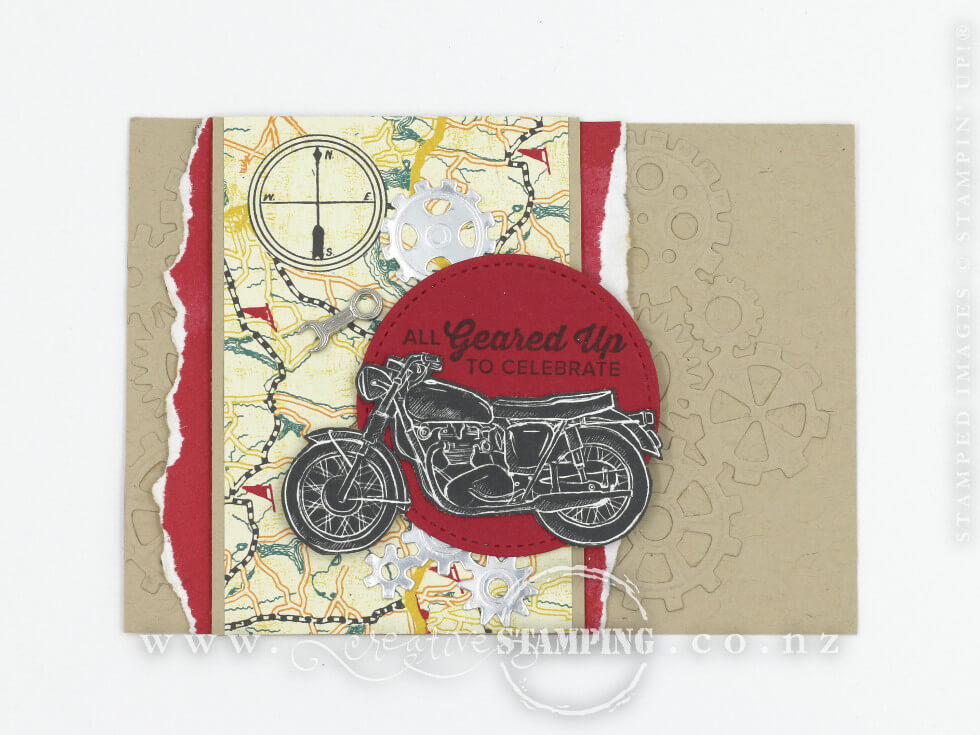 Geared Up Garage Masculine Birthday Card