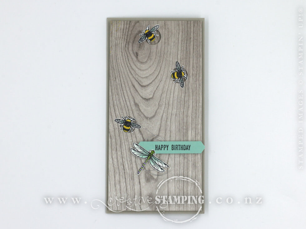 Touches of Texture Child Bug Birthday Card