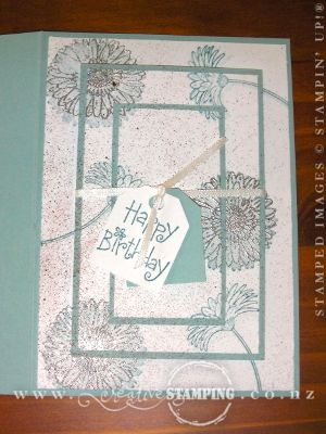 Jennie's Triple-Time Stamping Birthday Card