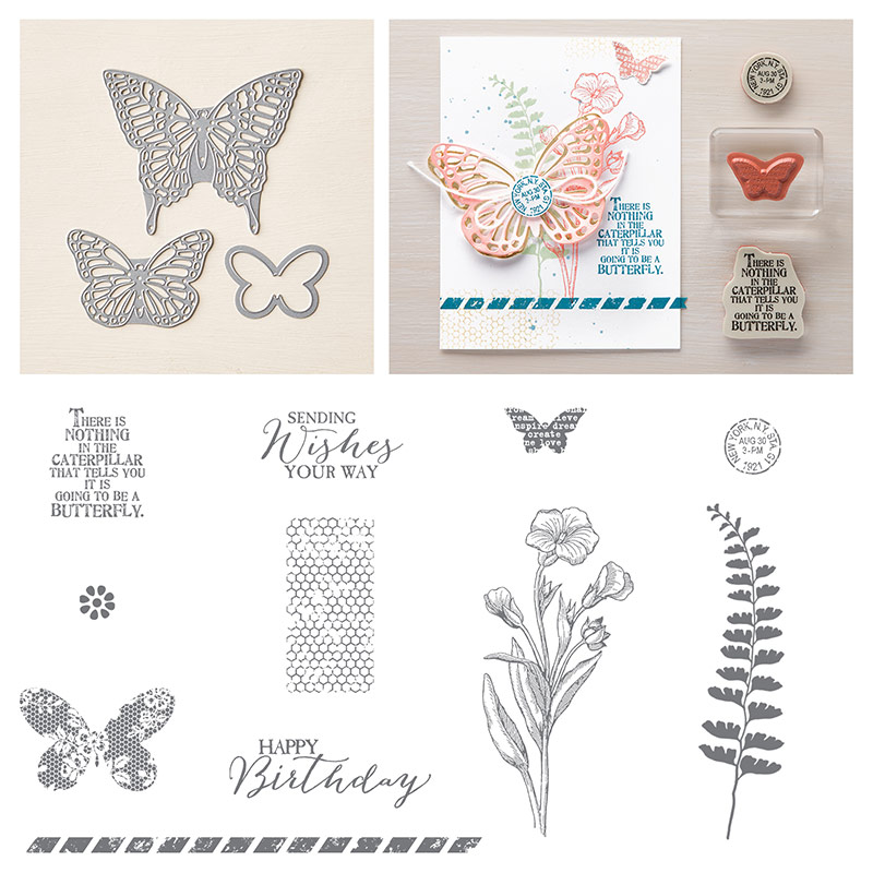 Bundle and Save 15%:  Butterfly Basics Stamp Set + Butterflies Thinlits Dies