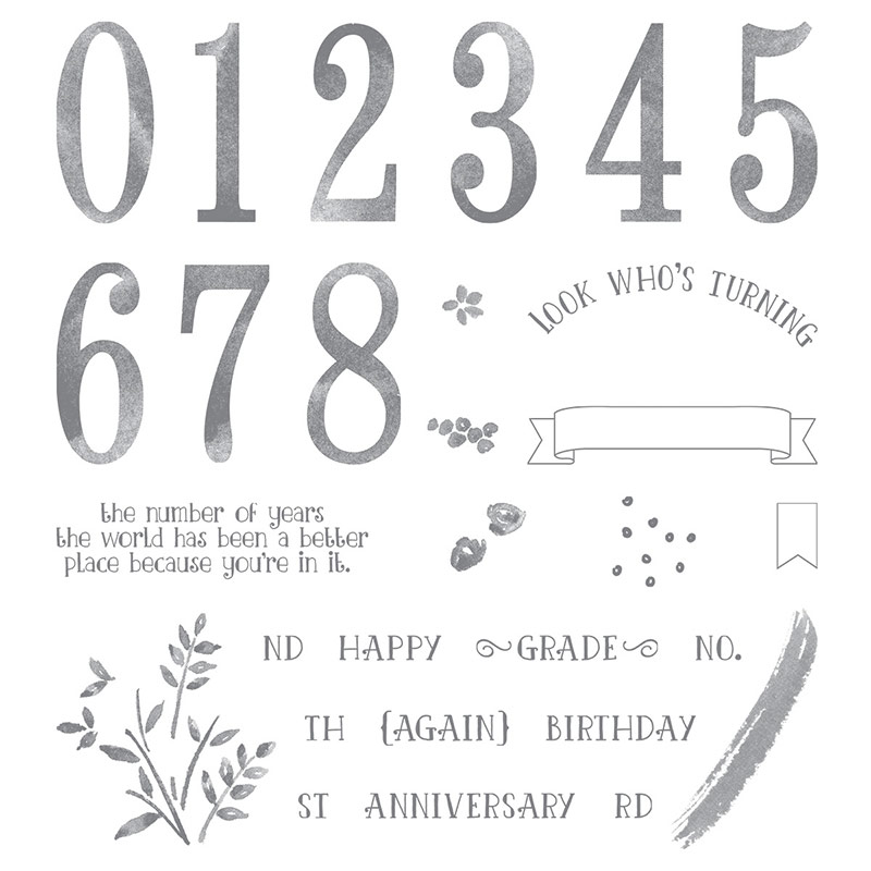 Number of Years Stamp Set