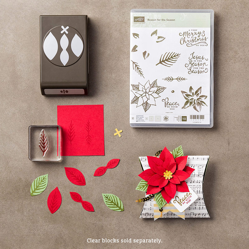 Reason for the Season Photopolymer Stamp Set + Festive Flower Builder Punch Bundle