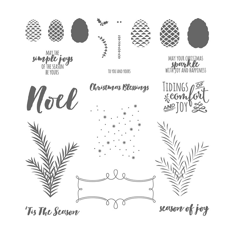 4400 3300 Christmas Pines Photopolymer Stamp Set