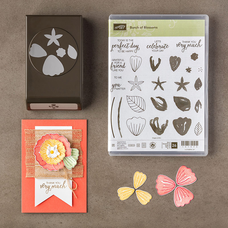 Bunch of Blossoms Photopolymer Stamp Set + Blossom Builder Punch